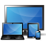 Widescreen, laptop, tablet and smartphone screens