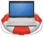 laptop on life preserver - drupal rescue