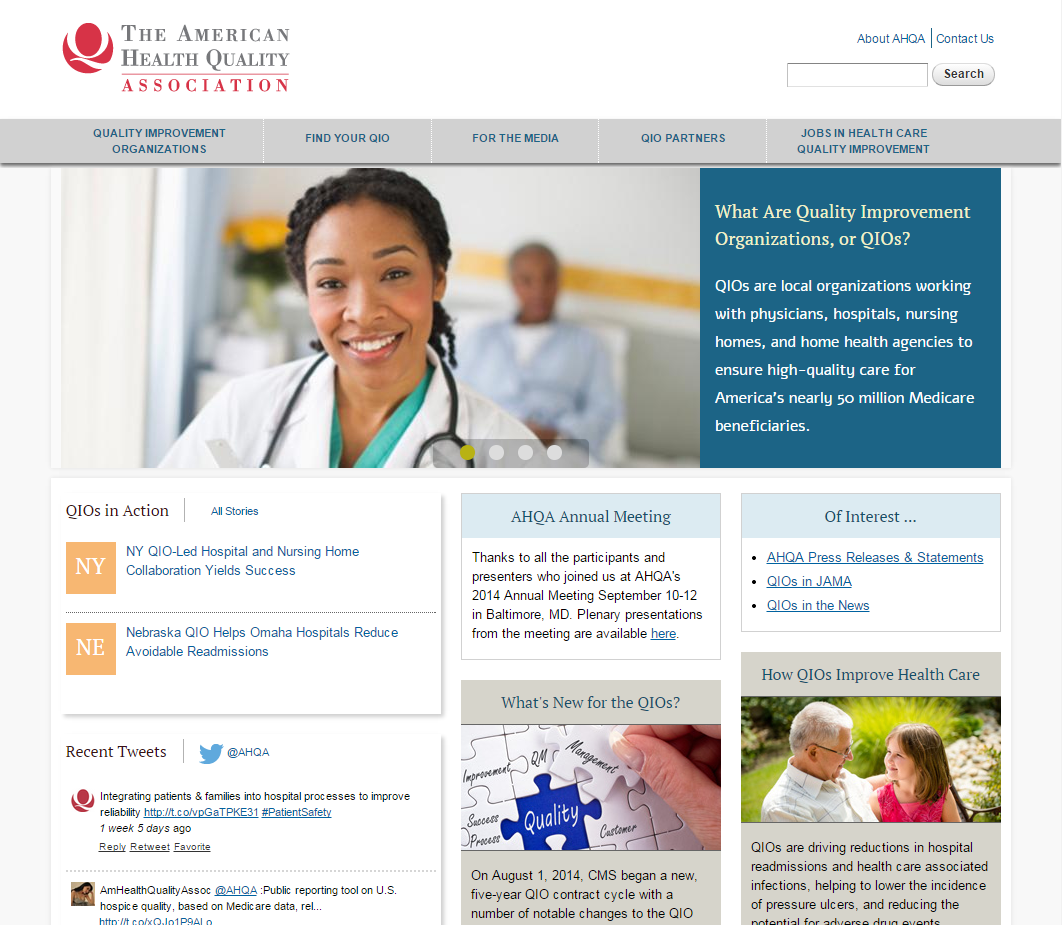 American Health Quality Association home page