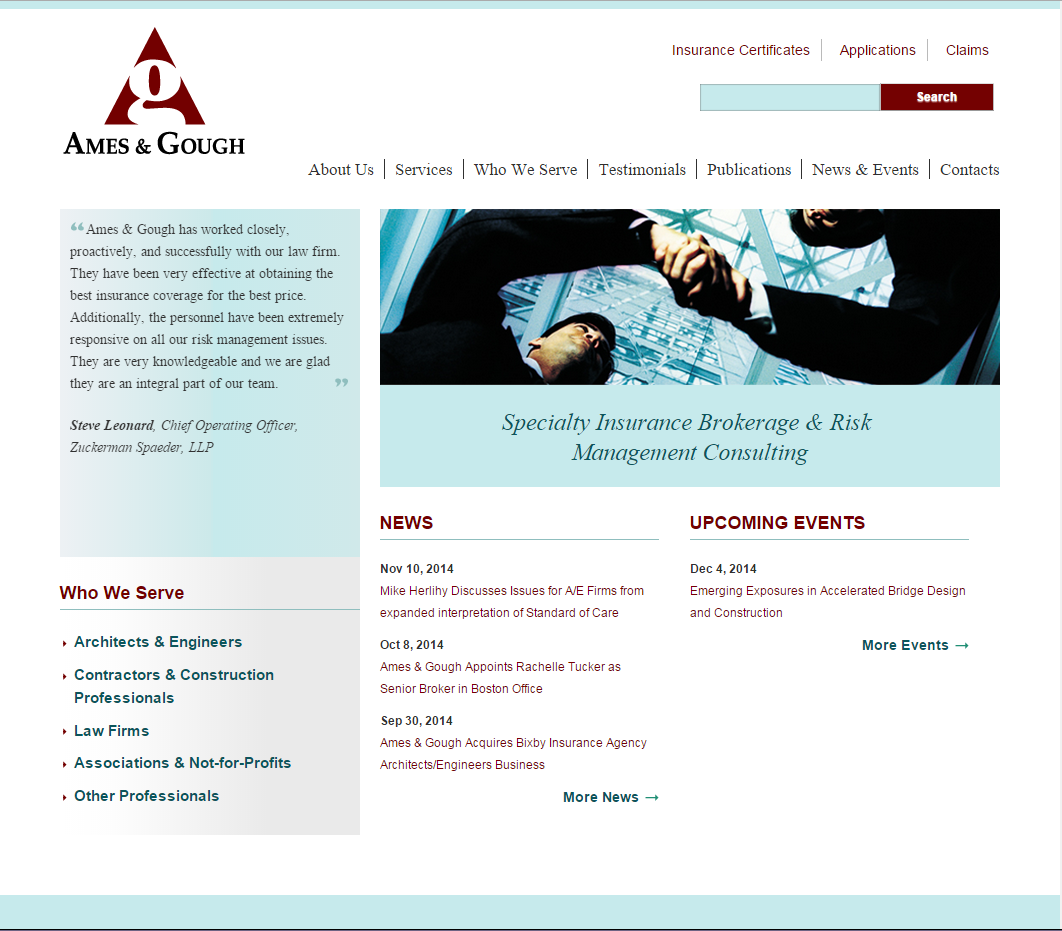 Ames & Gough home page