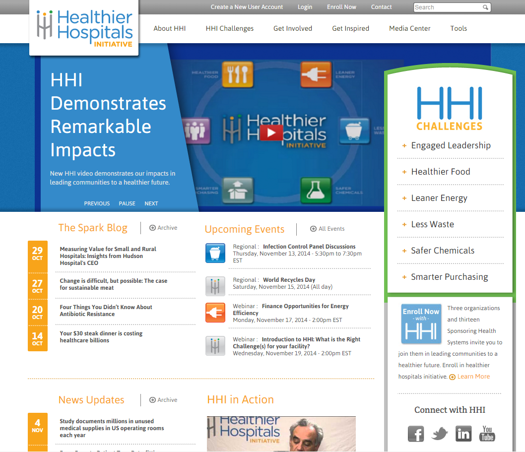 Healthier Hospitals Initiative home page