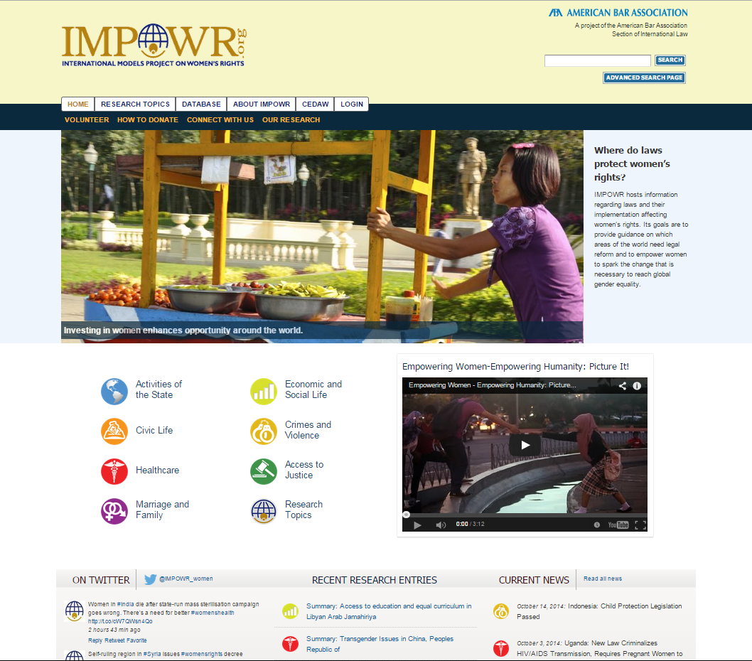 American Bar Association IMPOWR project home page