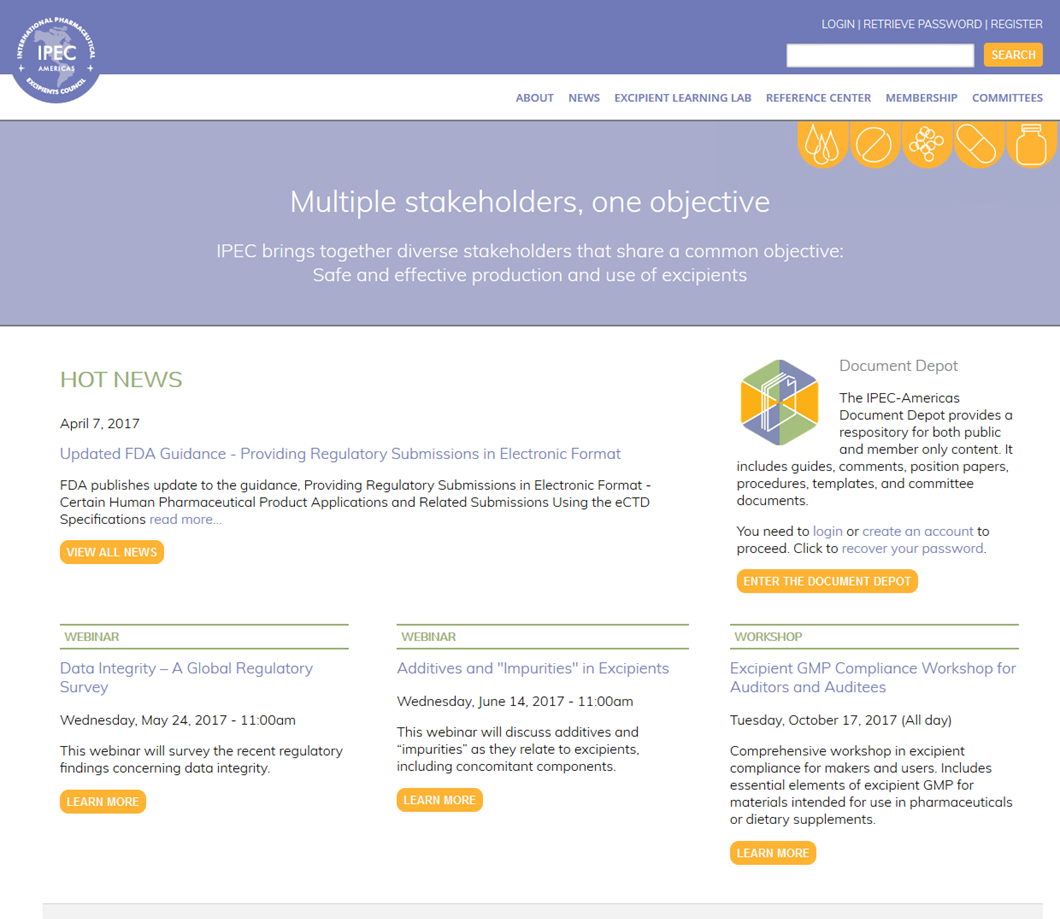 IPEC Americas home page