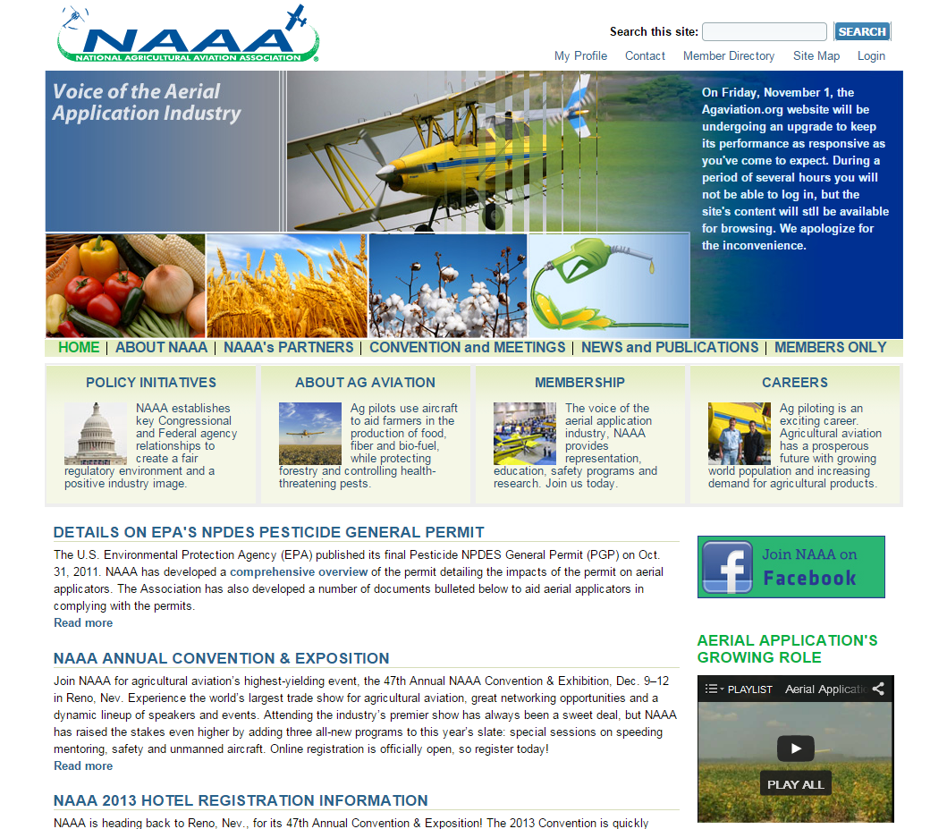 National Agricultural Aviation Association home page