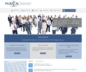 www.consumeradvocates.org homepage