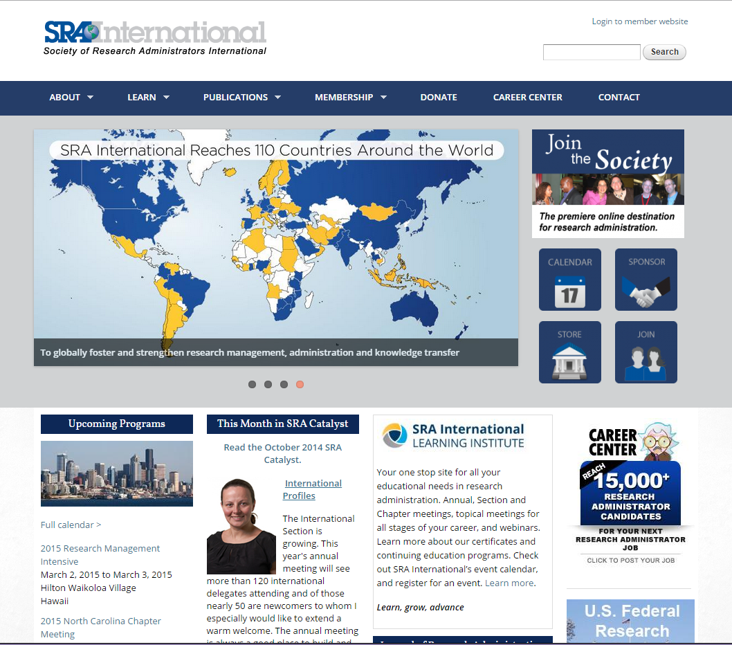 SRA International home page
