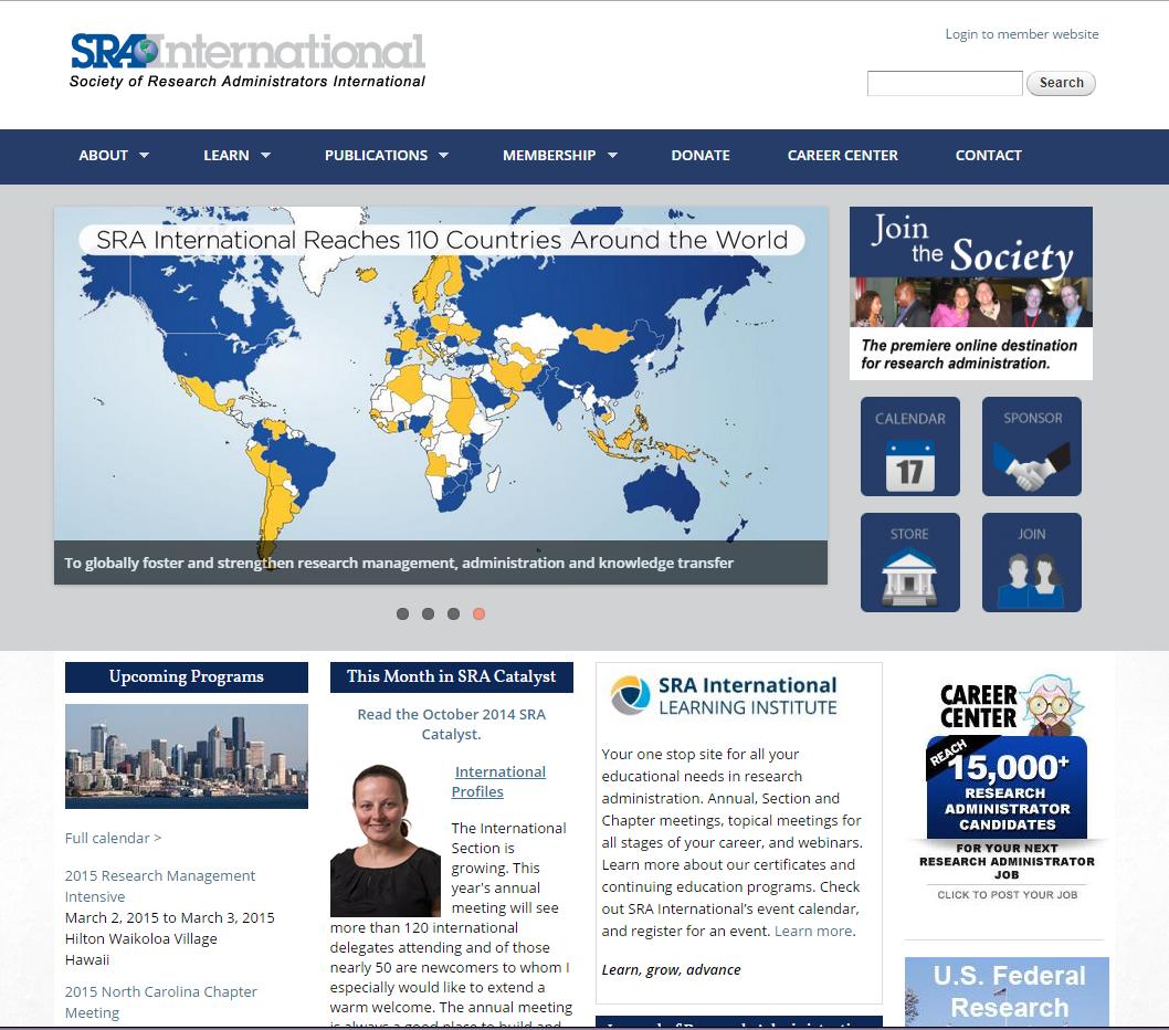 SRA International home page